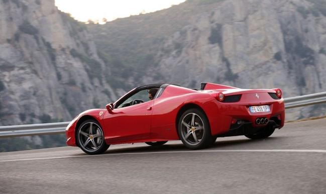 Ferrari 458 Spider Hire